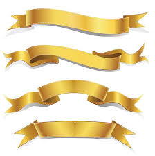 gold ribbons gold ribbon clip vector images illustrations istock
