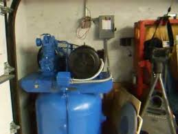 quincy air compressor wired for 220v almost youtube