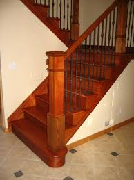 interior beautiful curved brazilian cherry staircase along with