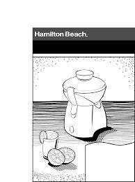 hamilton beach juicer 67333 user guide manualsonline com
