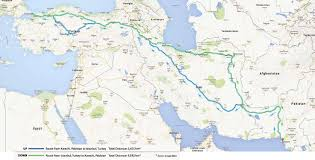 Emirates Route Map by Drivetoturkey From Karachi To Istanbul By Road