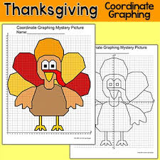 thanksgiving math coordinate graphing picture turkey mystery