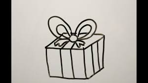 diy learn how to draw a christmas gift easy drawings for kids