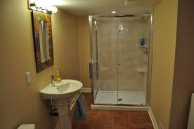 small basement bathroom w shower for basement shower ideas
