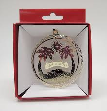 amazon com san diego california brass christmas ornament home