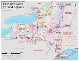 Map New York State Eat First In A New York Food Map State Of Mind