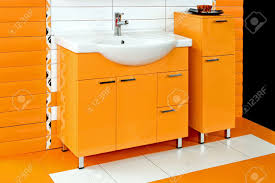 Orange Bathroom Lavabo Stock Photos Royalty Free Lavabo Images And Pictures