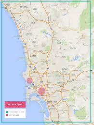 Map San Diego San Diego Lyft Promo Code Earn Free Ride Credit