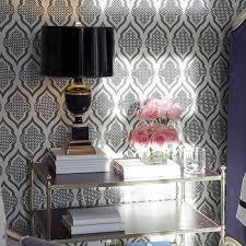 white and black moroccan wallpaper design ideas