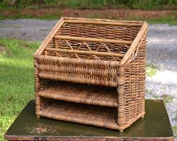 Wicker Desk Organizer Wicker Desk Organizer Vintage Wall Hanging Office Supply