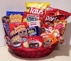 food basket gifts christmas gifts in michigan mi junk food gift basket