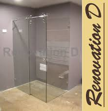 Sliding Shower Screen Doors 1341 1390 Wall To Wall Sliding Frameless Shower Screen Roller