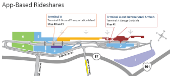 san jose airport on map app based rideshares sjc
