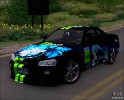 car nissan skyline nissan skyline gt r r34 v spec ii for gta san andreas