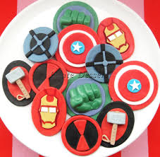 avengers cupcakes the avengers edible superhero cupcake toppers