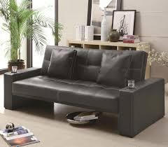 leather sofa bed u2013 an elegant extra bed at home camilleinteriors com