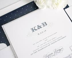 monogram wedding invitations monogram wedding invitations with polka dots wedding invitations
