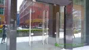 All Glass Doors Exterior 12mm Tempered Glass Commercial Frameless Glass Doors Manufacturer