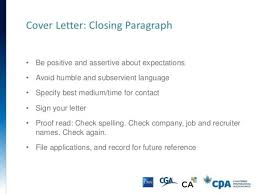 resume cover letter closing