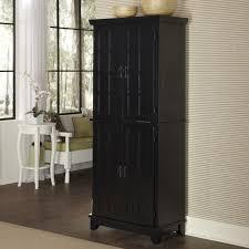 oak kitchen pantry cabinet furniture black solid wood kitchen cupboard for pantry storage
