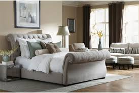 quilted headboard bedroom sets tufted sleigh bed fabric upholstery king bed with soft grey tufted