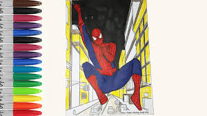 spiderman in the city real life coloring pages ultimate spiderman