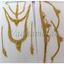 gold plated necklace sets images Buy gold plated jewellery set 9 pcs indian bridal jewelry jpg