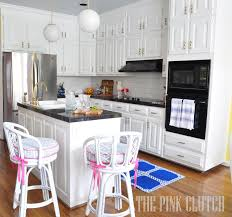 the pink clutch one room challenge kitchen reveal