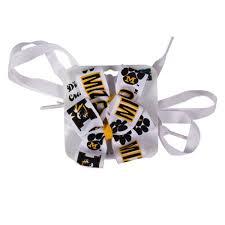 black and gold ribbon the mizzou store mizzou black gold ribbon shoelaces