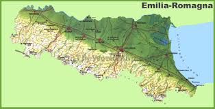 Italy Mountains Map by Emilia Romagna Physical Map