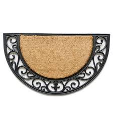 Half Circle Rugs Circle Rug Etsy Fantastic Half Doormat Picture Design Doormats Il