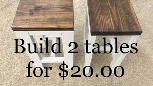 diy how to make 2 tables for 20 00 living room end tables