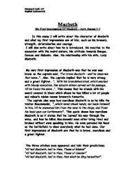 macbeth character analysis gcse english marked by teachers com