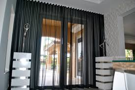 Black Sheer Curtains Black Sheer Curtains Beatriz Miami Lakes Ripple Fold Black Silver