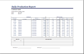 daily report sheet template excel daily production report template formal word templates