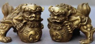lion foo dog 2017 royal palace brass copper feng shui foo dog lion