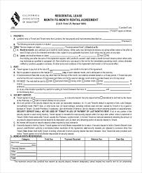 sample month to month lease agreement form 8 free documents in