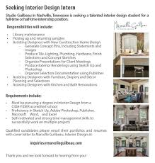 Interior Design Internship by Employment Opportunities At Studioguilbeau Marcelle Guilbeau