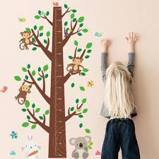 jungle wall decal promotion shop for promotional jungle wall decal 140 95cm jungle monkey tree kids height ruler diy wall stickers for nursery kids rooms pvc wall decals children home decoration