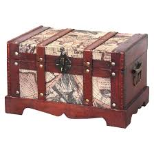 world map wooden trunk set of 2 quickway imports target