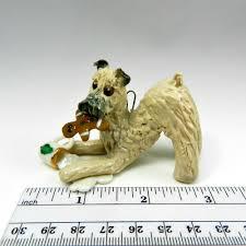 soft coated wheaten terrier ornament figurine santas
