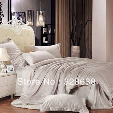 Chinese Silk Duvet Bedding Silver Bedding King Queen Comforter Sets Silver Bedding