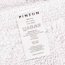 White Fluffy Bathroom Rugs Amazon Com Pinzon Luxury Reversible Cotton Bath Mat 30 X 50