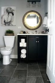 how to create a neutral glam bathroom black vanity marble