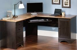 Sauder Harbor View Corner Computer Desk Antiqued White Finish Making The First Impression Is Easy With The Best Small Reception