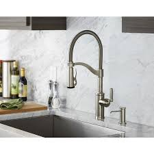 pull kitchen faucets stainless steel shop giagni pompa stainless steel 1 handle pull kitchen faucet