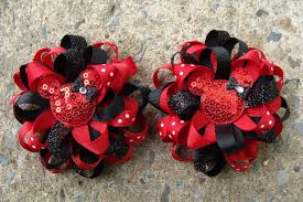 mickey mouse hair bow 2 minnie mouse hair bows mickey mouse hair bow by myluckyhairbow