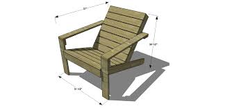 outdoor wood chair plans free