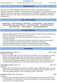 event coordinator resumes sle resume for event festival manager coordinator