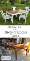 how to strip and refinish a dining room table